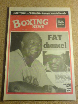BOXING NEWS - 19 April 1991 - FOREMAN HOLYFIELD