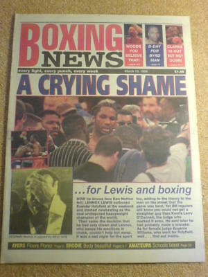 BOXING NEWS - 19 March 1999 - LEWIS HOLYFIELD