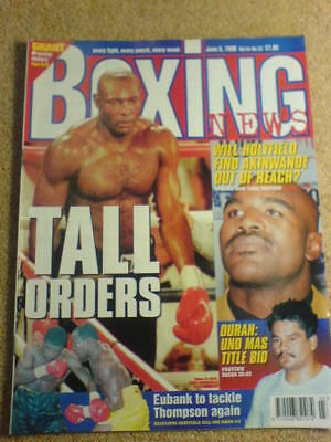 BOXING NEWS - 5 June 1998 - HOLYFIELD AKINWANDE