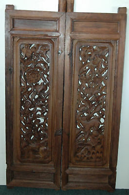 Chinese antique window, hand carved