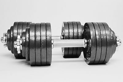 Omnie 105LBS HAND WEIGHT ADJUSTABLE DUMBBELLS SET FOR HOME & GYM FITNESS WORKOUT