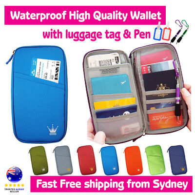 Travel Wallet Passport Holder Card Organizer Bag for iPhone 7 plu Case Pouch+Tag