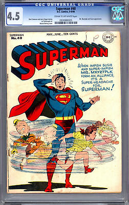 SUPERMAN #40    CGC 4.5    MR-MXYZTPLK & SUSIE APP 1946