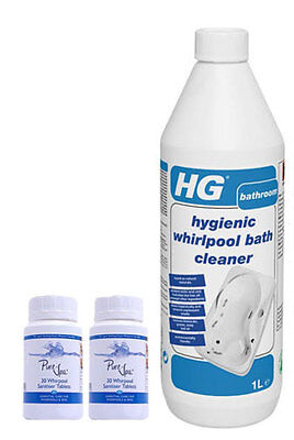 HG Whirlpool Cleaner Kit Includes 1 x 1 Litre and 2 x 30 Sanitiser Tablets