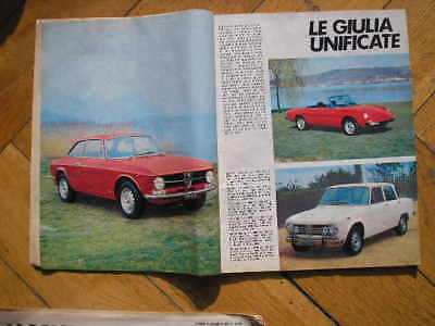 Alfa Romeo Giulia Super Gt Spider Junior Intrepido 1972