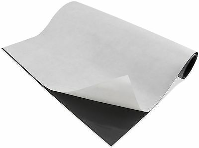 """Magnetic Sheet 30 Mil. 24"""" x50 Ft ROLL w/ adhesive back"""