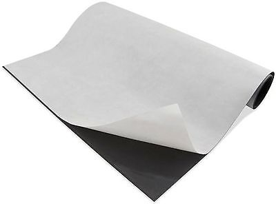 """Magnetic Sheet 30 Mil. 24"""" x25 Ft ROLL w/ adhesive back"""
