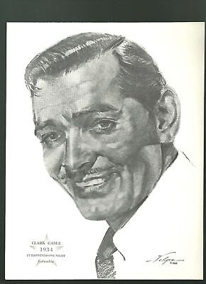 Clark Gable It happened One Night portrait print 1962