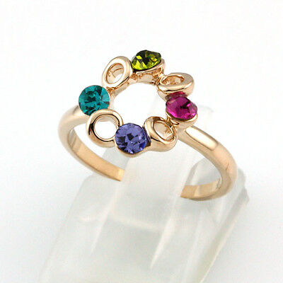 18k Gold Plated Crystal Free Shipping Cute Ring 95242