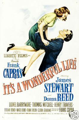 It/'s a wonderful life James Stewart movie poster print #32