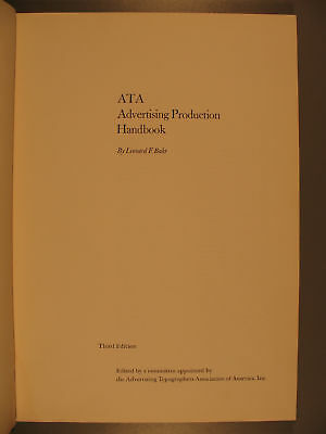 ATa Advertising Production Handbook, Leonard Bahr, 1963