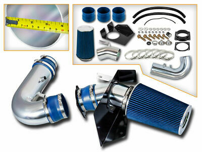 Cold Heat Shield Air Intake + BLUE Filter for 97-03 F150 Expedition 4.6L 5.4L V8