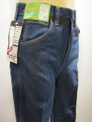 NOS DEADSTOCK 70S EURO STRAiGHT HiGH WAiSTED WRANGLER BLUE JEANS ViNTAGE 14 SLiM