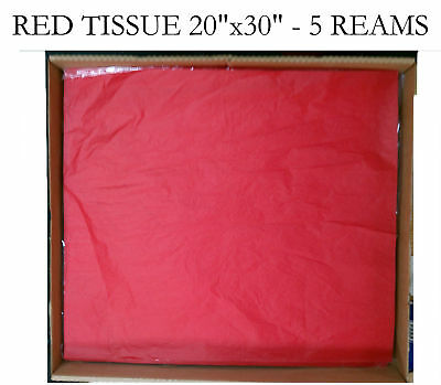 "1 CASE  RED TISSUE PAPER TOP QUALITY 20x30"" 2300 sheets"
