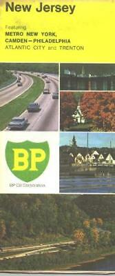 1970 BP New Jersey Vintage Road Map
