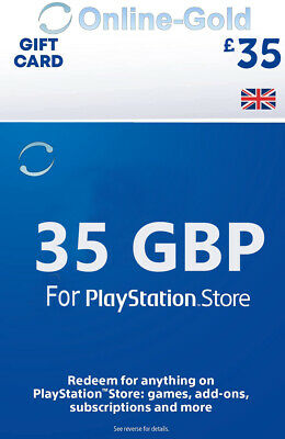 £35 Pfund Playstation Store Card Key / PS3 PSP PSN - UK