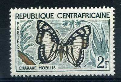 CENTRAFRICAINE 1960, timbre n° 6, papillon , neuf**