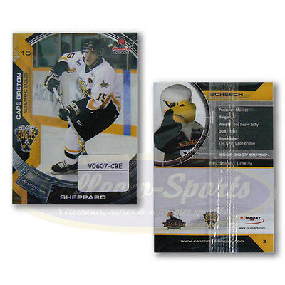06-07 Cape Breton Screaming Eagles set with Pavelec