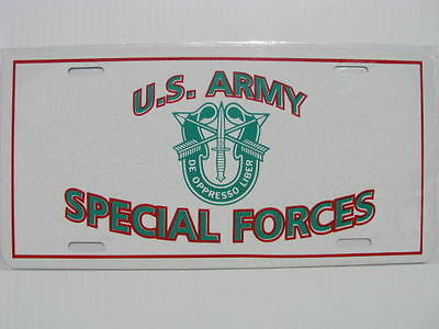 License Plate, US Army Special Forces-NEW