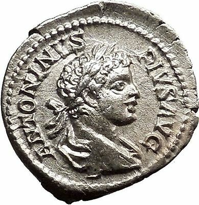 CARACALLA 201AD  Ancient Silver Roman Coin Commerce GOOD LUCK Cult  i19046