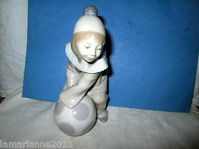 Figurine Cherubin En Pyjama Son Ballon Signe Lladro Little Boy Balloon Figurin