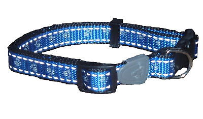 Reflective Dog Collar BLUE Small-ALSO TWO OTHER COLOURS