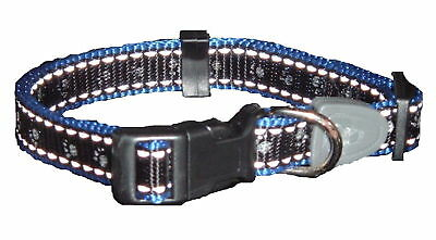 Reflective Dog Collar BLACK Small-ALSO 2 OTHER COLOURS