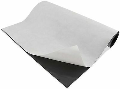 """Magnetic sheets 15 mil x 24"""" x 25', Adhesive backing"""