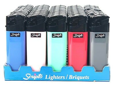 50 Scripto Electronic Lighters - Full Box
