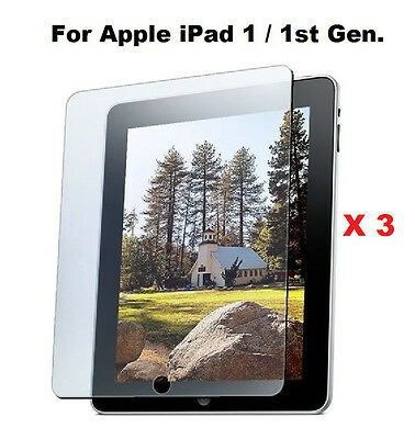 3X Anti-Glare Matte LCD Screen Protector Guard for iPad