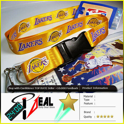 NBA LOS ANGELES LAKERS Lanyard keychain + Ticket Holder