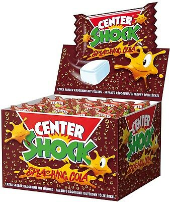 (1000g=11,98€) Center Shock Cola - 100 Stück - Kaugummi Sauer