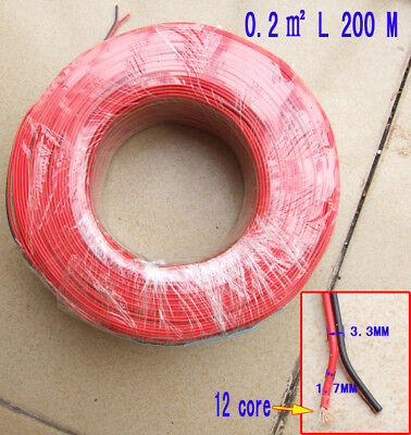 5M 300V 2 X 0.2m㎡ 12-core PVC insulated cables Probes