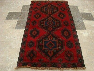 BALAUCHI TRIBAL NOMADIC AFGHAN HAND KNOTTED RUG 6.4x3.6