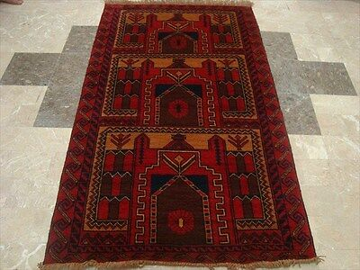 BALAUCHI TRIBAL NOMADIC AFGHAN HAND KNOTTED RUG 6.3x3.7
