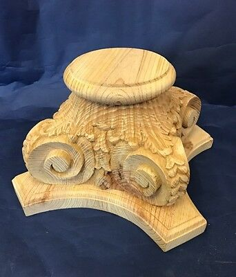 Corinthian Column Capital SOLID PINE #482