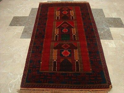 BALAUCHI TRIBAL NOMADIC AFGHAN HAND KNOTTED RUG 6.7x3.8 b-108