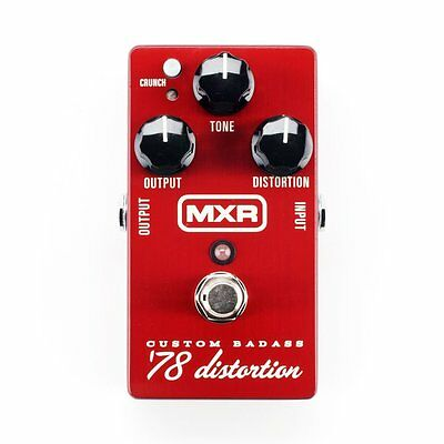 Mxr M78 Custom Badass '78 Distortion Pedal - New!