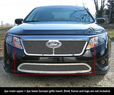 For 2010-2012 Ford Fusion Mesh Grille Combo Insert