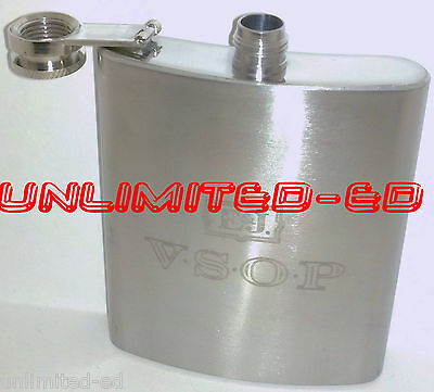E&J VSOP STAINLESS STEEL 7oz. FLASK - BRAND NEW