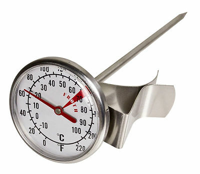Stainless Steel Coffee Milk Frothing Thermometer Large Dial