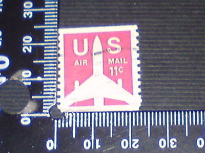 USED STAMP - USA - AIRMAIL 11c NO PERF TOP & BOTTOM