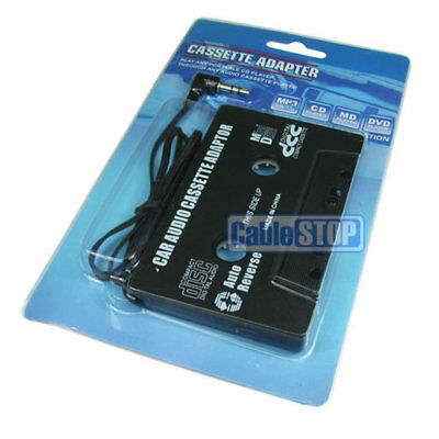 Car Cassette Adaptor CD MD iPOD NANO MP3 Tape Converter 3.5mm Aux Jack Adapter