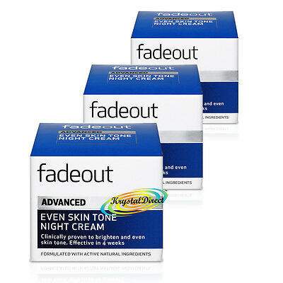 3 X Fade Out Extra Care Brightening Night Cream 50ml