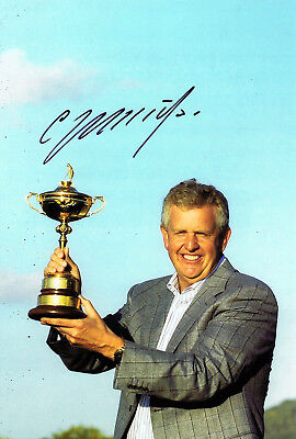 "Colin Montgomerie ""Monty"" HAND SIGNED Ryder Cup Captain 12x8 Photo AFTAL COA"