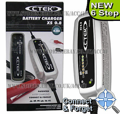 CTEK XS 0.8 12v 0.8A Car Bike Boat 6 Step Fully Automatic Smart Battery Charger