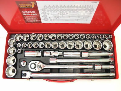 "SOCKET SETS / 43PC 1/2"" DR. SOCKET SET(HIGH QUALITY) TAIWAN 12 point 8-32mm"
