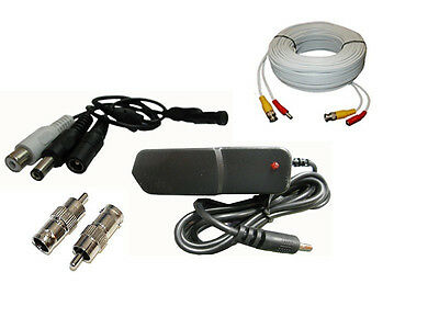 CCTV Microphone, Power Supply and 100ft premade cable