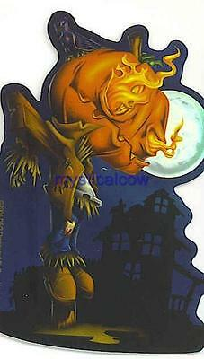 gothic kids laser sticker emo PUMPKIN HEAD