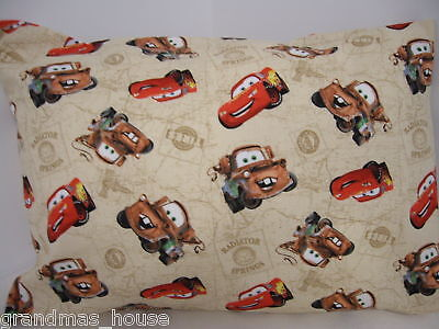Child Toddler Cot Pillowcase Cars 2 Mater & Lightning 100% Cotton